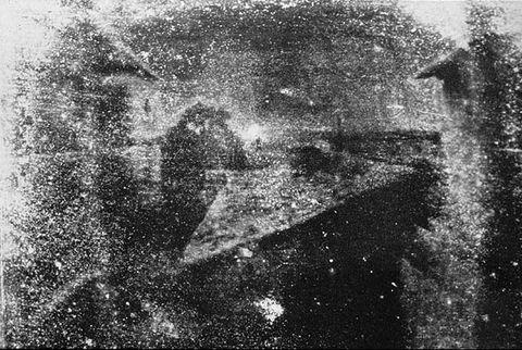 Nicephore Niépce, Vista desde la ventana en Le Gras. 1928.