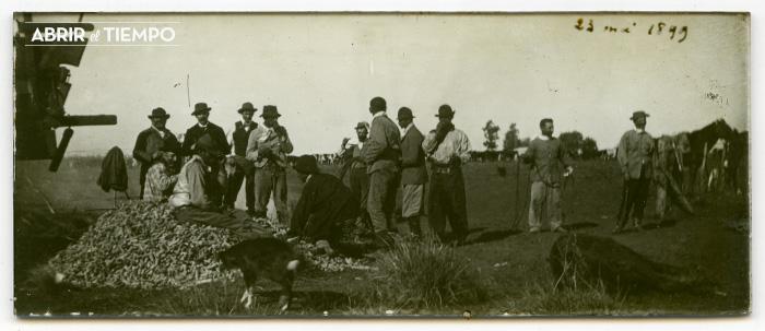 Placa de vidrio. 23 de mayo de 1899 en Argentina.