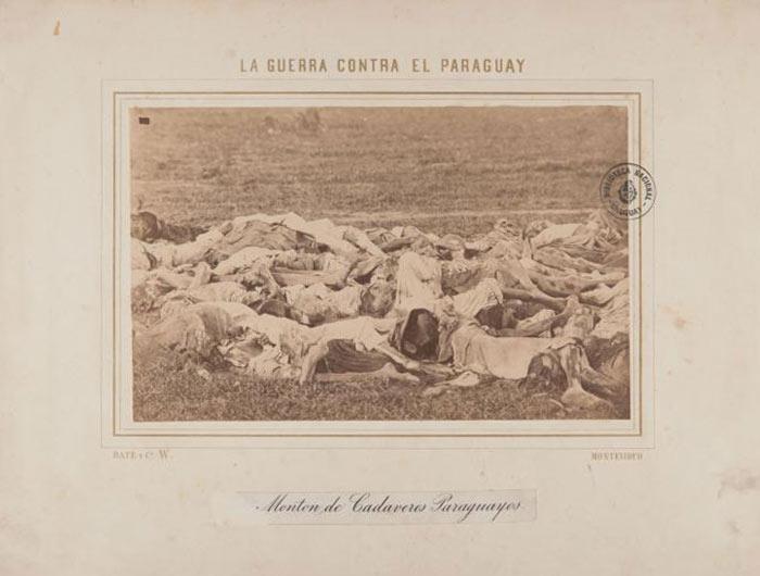Montón de cadáveres paraguayos